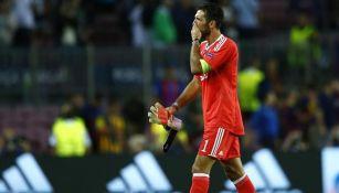 Buffon en partido con la Juventus