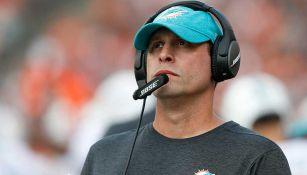 Adam Gase, como coach de los Miami Dolphins
