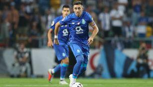 Herrera en un partido con el Porto