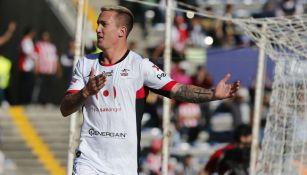 Ramos festeja anotación con Lobos BUAP en Liga MX