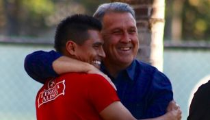 Martino con Osvaldito Martínez