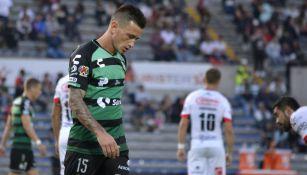 Brian Lozano lamenta error en un duelo con Santos
