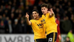 Jiménez festeja gol del Wolves