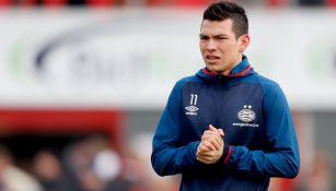 Lozano, previo a un duelo con el PSV en Holanda