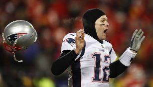 Tom Brady al término del partido ante Chiefs