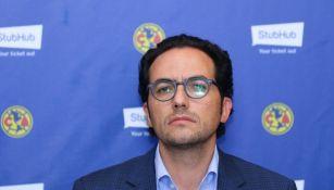 Mauricio Culebro, en una conferencia con América