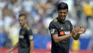 Carlos Vela durante un partido de Los Angeles FC