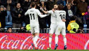 Benzema festeja gol contra Alavés