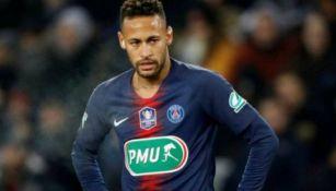 Neymar durante partido de Copa