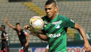 Angulo, en un partido con el Deportivo Cali