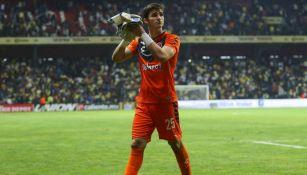 Sebastián Jurado, durante un partido de Veracruz