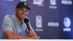 Tiger Woods en conferencia de prensa