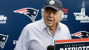 Robert Kraft, en una conferencia de prensa