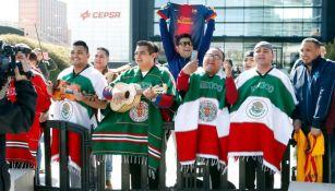 Mexicanos reciben al Barça en Madrid