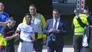 Momento en el que Joao Maleck debuta con el Sevilla B