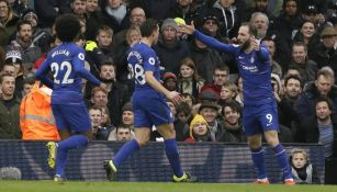 Higuaín celebra su gol frente al Fulham
