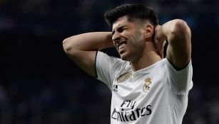 Asensio se lamenta en juego del Real Madrid