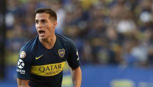 Marcone durante un partido de Boca Juniors