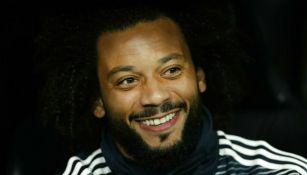 Marcelo durante un partido del Real Madrid