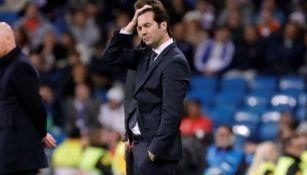 Solari se lamenta en partido contra el Ajax