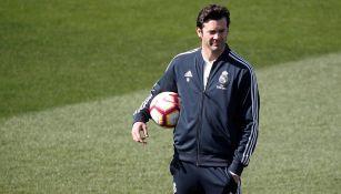 Solari en entrenamiento con el Real Madrid