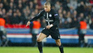 Mbappé, durante un juego del PSG