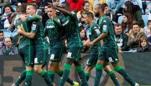 Betis festeja una anotación en La Liga