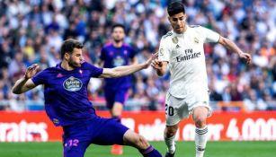 Asensio conduce el balón contra el Celta