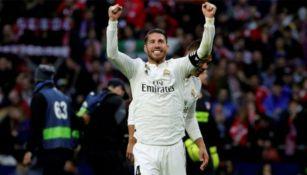 Ramos celebra anotación con el Real Madrid