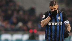 Mauro Icardi durante un partido con el Inter de Milán
