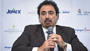 Hugo Sánchez en conferencia de prensa