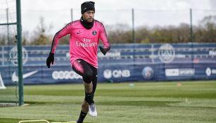 Neymar durante entrenamiento del PSG