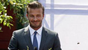 David Beckham durante un evento futbolístico