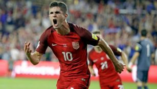 Christian Pulisic celebra anotación con Estados Unidos