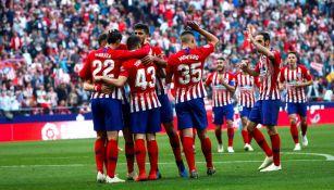 Atlético de Madrid celebra una anotación frente al Celta