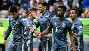 Bayern festeja victoria sobre el Fortuna Düsseldorf
