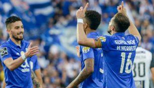 Herrera celebra anotación con el Porto