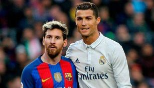 Messi y Cristiano durante un partido