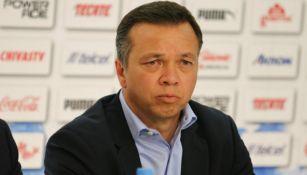 Mariano Varela, durante la presentación de Tomás Boy