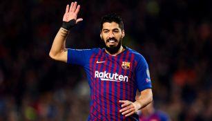Luis Suárez, durante un partido con el Barcelona