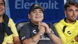 Maradona, durante un juego de Dorados de Sinaloa