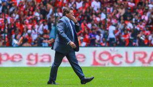 Miguel Herrera en el partido contra Toluca