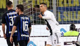 Cristiano Ronaldo festeja un gol