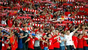 Seguidores del Liverpool durante un encuentro