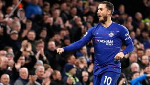 Hazard celebra un gol en Stamford Bridge