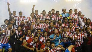 San Luis en festejo tras ganar la Final
