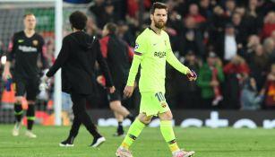 Leo Messi tras su derrota frente al Liverpool