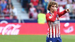 Griezmann festeja en un partido del Atlético