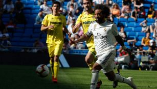 Marcelo en partido con el Real Madrid