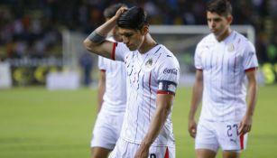 Pulido cabizbajo tras un juego con Chivas en el C2019